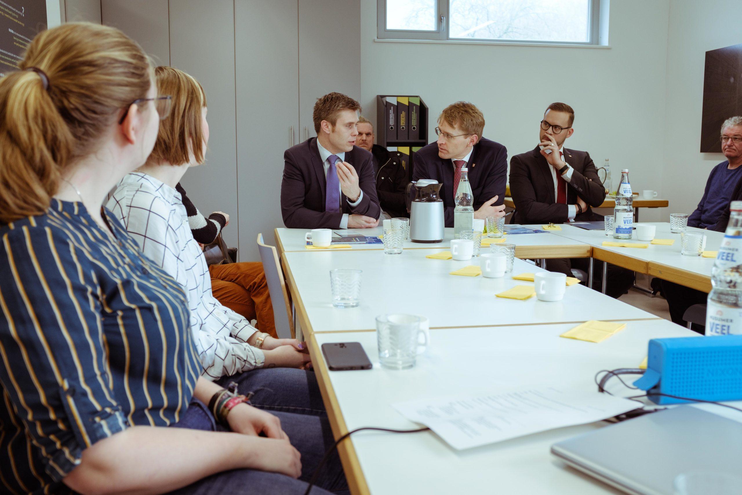 Besuch Daniel Günther - Diskussion